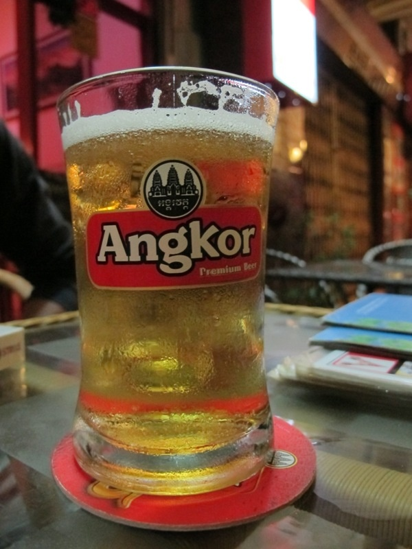 A glass of Angkor Beer @Indian Delight, Phnom Penh