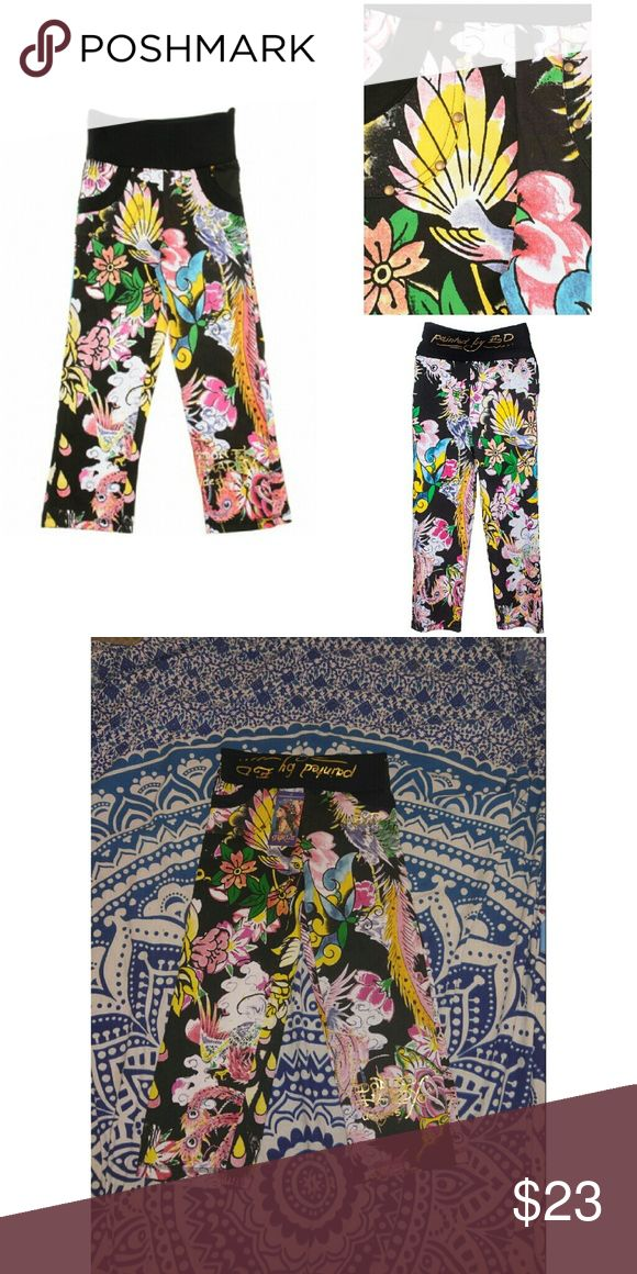 NWT Don Ed Hardy Sweats The Ed Hardy Kids Girl Sweatpants is a great pair of stylish pants in what your kids will look ravishing. Features original ED Hardy Graphics, with 2 side pockets.  *Super comfy knit Ed Hardy  *Wide waistband  *Tattoo graphic detail  *Two sides pockets  * 100% Authentic  *100% Cotton Ed Hardy Bottoms Sweatpants & Joggers