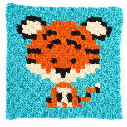 Crochet For Children: Zoodiacs Tiger C2C Crochet Graph