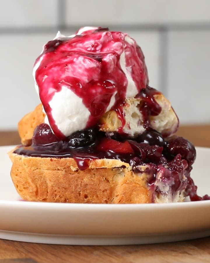 This Peach Cherry Blueberry Shortcake Is Perfect For Dessert Right Now
