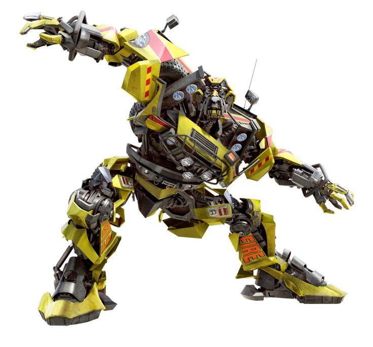 A promotional image of the Autobot medic Ratchet from the live action Transformers film.
