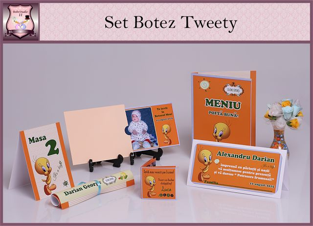set marturii botez tweety