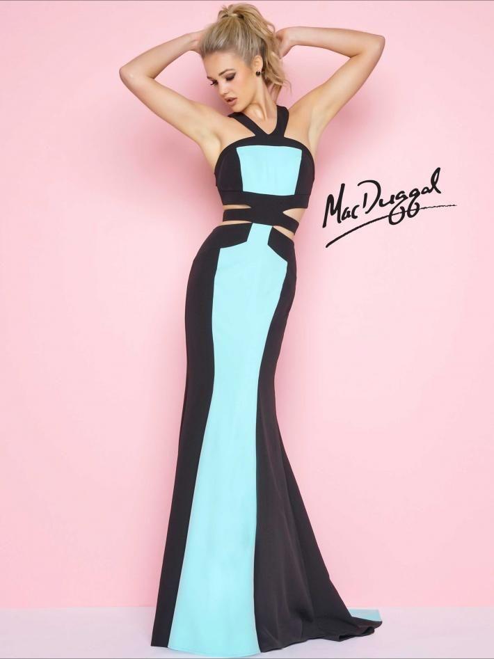 Color Block Prom Dress   Mac Duggal 11081L