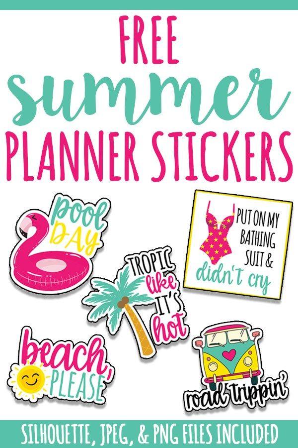 Free Summer Planner Stickers Mini Happy Planner Mine Summer