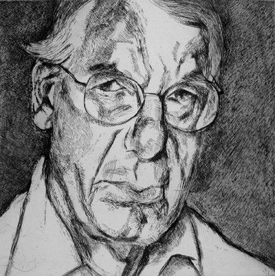 Lucian Freud, New Yorker, etching, 2006