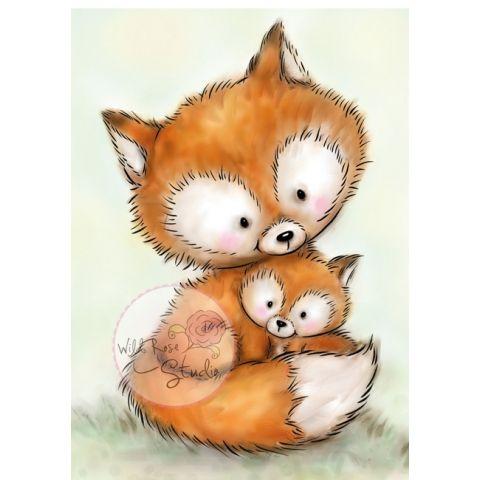 Mummy Fox and Baby