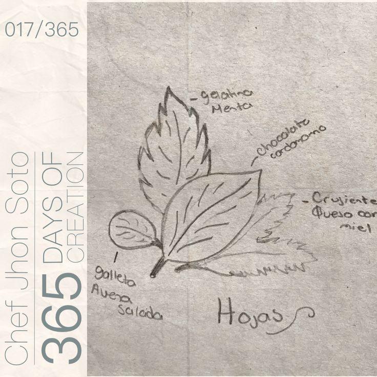 [ 017/365 ] #creativethinkingchallenge  Hojas  - Galleta de Menta  - Galleta de Avena Salada  - Hoja de Chocolate y Cardamomo - Crujiente de Queso c/ Miel   Textura similares, sabores distintos, la diversidad del mundo se simplifica en simples y delicadas hojas.