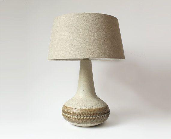 Vintage Danish Ceramic Table Lamp  Søholm 1960s by PastPresentHome