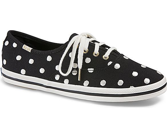KEDS X kate spade new york CHAMPION, White Dancing Dot
