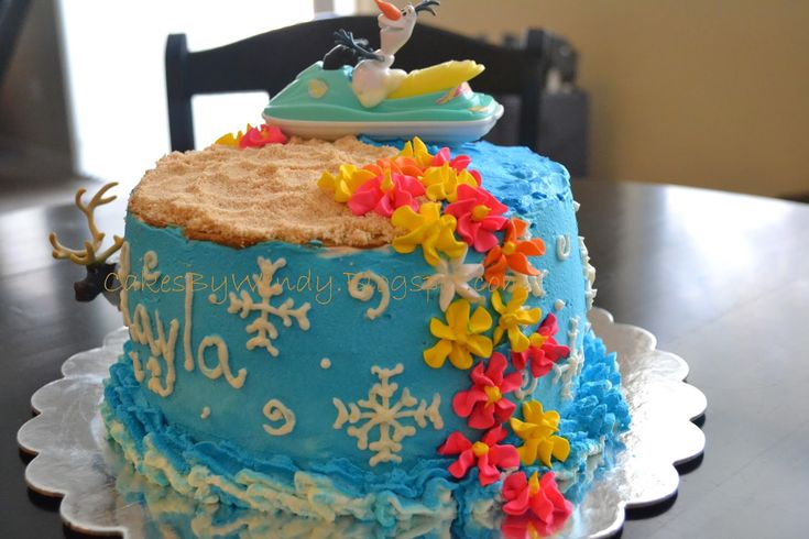 Decorating One Cake at a Time.......: Olaf Summer Time Cake!