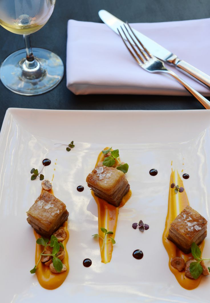 Bangalow Pork Belly & a sweet carrot puree