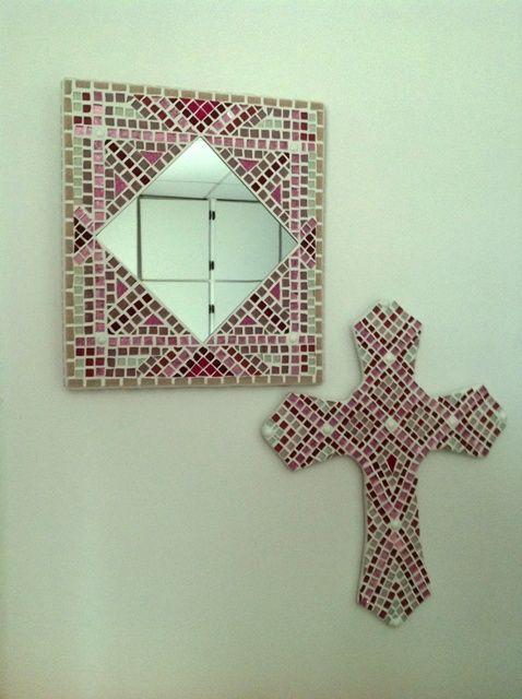 Pink mirror & cross