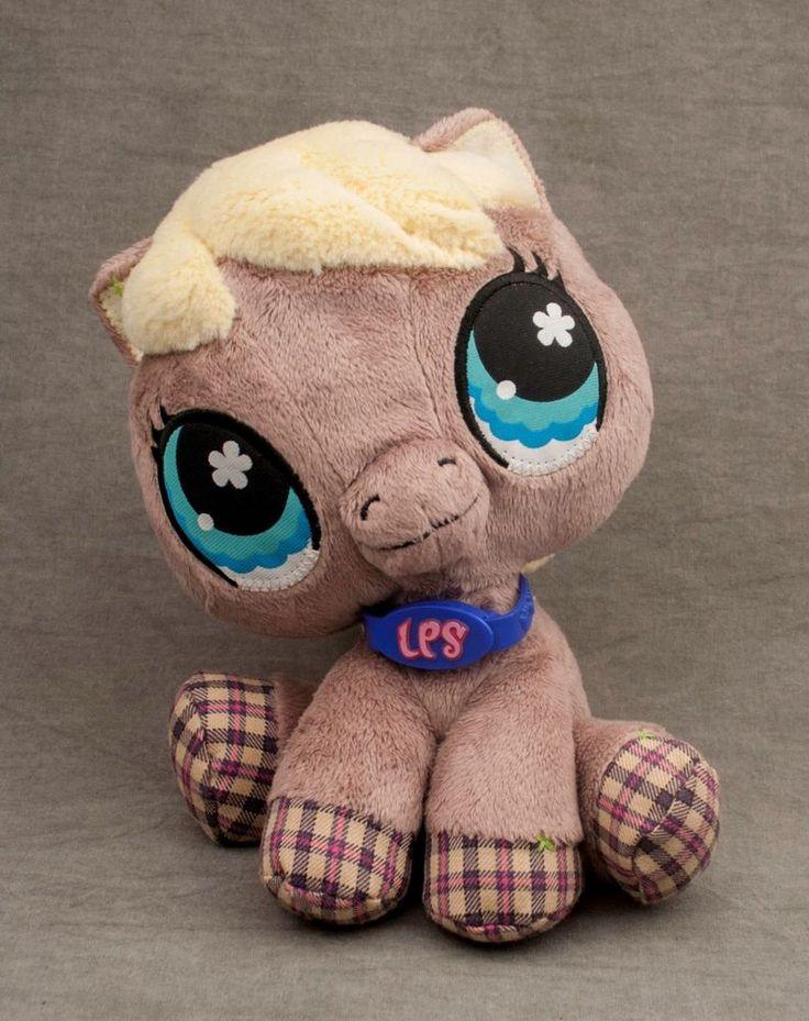 "LPS Littlest Pet Shop PLUSH HORSE Hasbro 2007 no code 8"" 65040/63989 #Hasbro"