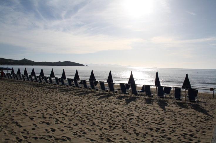 Beach at Gallia Palace , Punta Ala, Tuscany