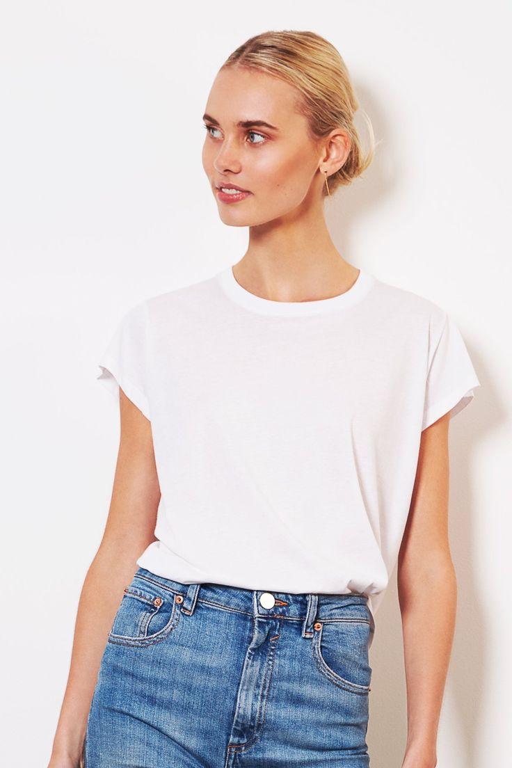 shop ethical clothing Australia | sustainable - ethi - Crew Tee - White