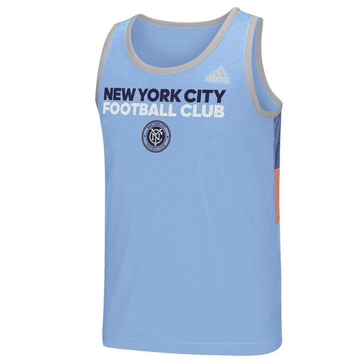 Men's Adidas New York City FC Fan Wear clmalite Tank Top, Size: XXL, Blue
