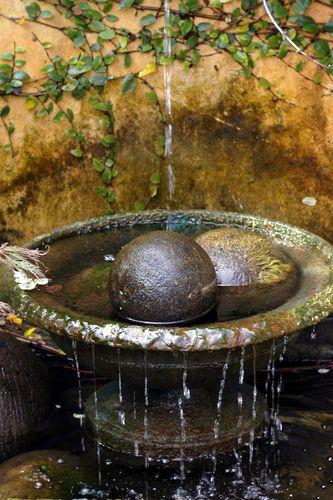 a nice fountain adds a good sound to a Moon Garden