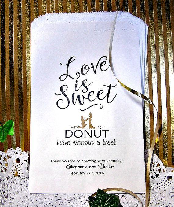 Personalized Wedding Donut Bags  Wedding Doughnut - Donut Bar Buffet                                                                                                                                                     More