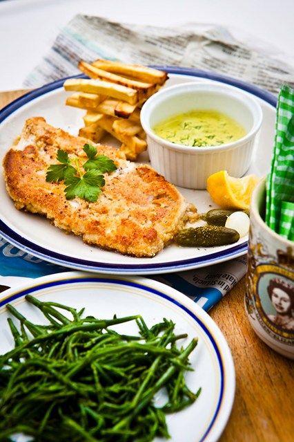Hemsley & Hemsley: Fish, Celeriac Chips & Tartare Sauce (Vogue.com UK)