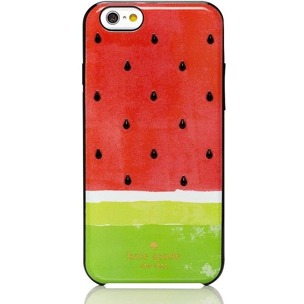 kate spade new york Kate Spade Embellished Watermelon Resin Iphone 6... (63 AUD) ❤ liked on Polyvore featuring accessories, tech accessories, phone cases, phone, cases, tech and kate spade