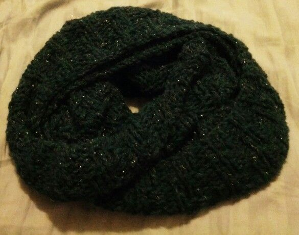 Baby alpaca cowl... A little too long but super soft