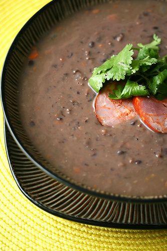 Viva Brazil !!!!!!! Brazilian Black Bean Soup