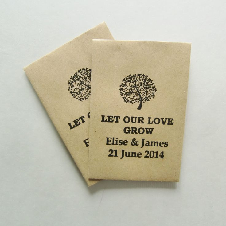 150 Wedding Favors/Seed Packets-Let Our Love Grow-Personalized with Name/Date-Wedding Favor Ideas-Wedding Favours-Unique Wedding Favors by IzzyandLoll on Etsy https://www.etsy.com/listing/204673255/150-wedding-favorsseed-packets-let-our