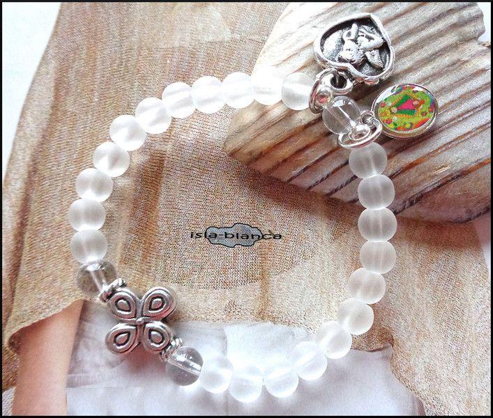Gastgeschenke - Kinderarmband ♥ KOMMUNION ♥ Herz ENGEL Virgencita - ein Designerstück von isla-blanca bei DaWanda