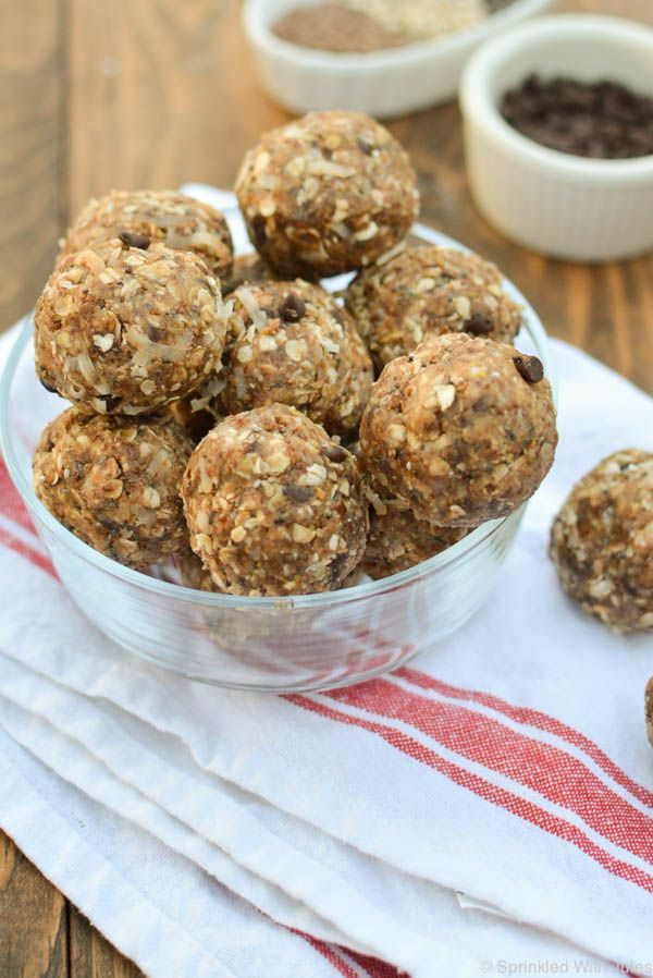 These bite sized energy balls are packed with protein and nutrients that  make for the perfect on-the-go snack.