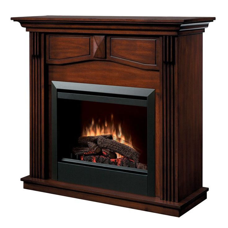 """Dimplex Holbrook 23"""" Electric Fireplace with Wooden Mantel, UL Listed (DFP4765BW)"""