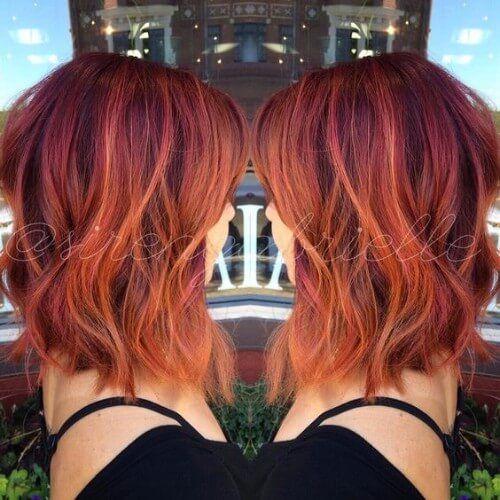 Auburn with Orange Highlights