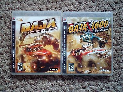 Baja Edge of Control + Baja 1000 - lot mud dirt racing rally - PS3 - Complete