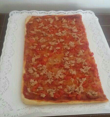 Media coca de tomate y atún!