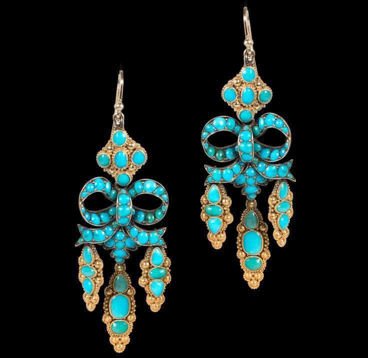 Antique Jewellery » 18ct Victorian Drop Earrings