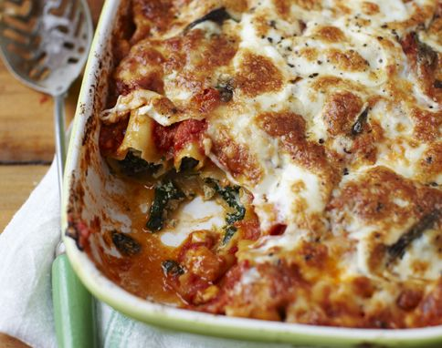 spinach ricotta cannelloni (Jamie Oliver)