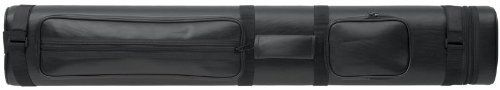 2 X 4 Hard Pool Cue Stick Carrying Case Black Billiard by Billiard Evolution. $65.65. Keep up to two butts and four shafts in this top quality black vinyl cue case. The butts and shafts are kept separate and secure inside tube inserts. This oval cue case features a zippered top and an adjustable shoulder strap and reinforced carrying handle with hook and loop closure. There's plenty of room for tools and accessories in the two roomy storage pockets on the exterio...