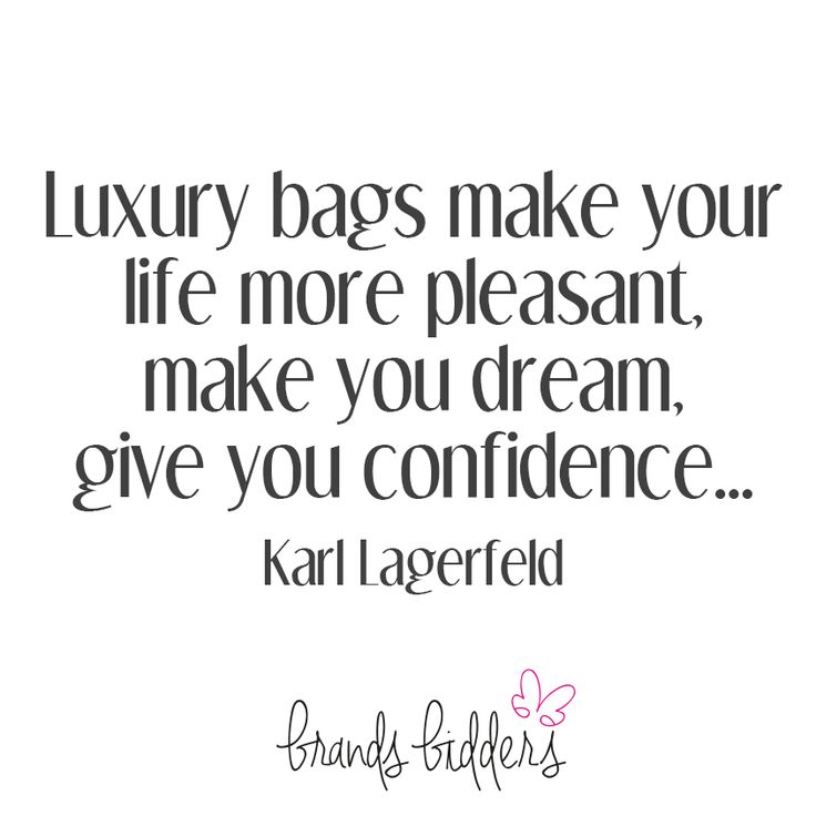 There's a reason we love luxury high end bags...  #fashion #qotd #quotes #karllagerfeld