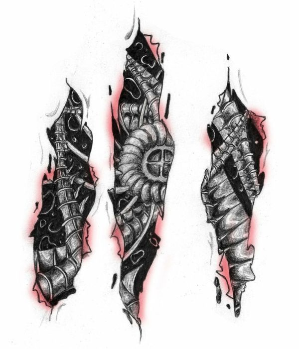 biomechanik tattoo ideen und inspirierende bilder tattoos and art pinterest tattoos. Black Bedroom Furniture Sets. Home Design Ideas