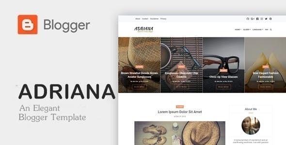 Download Adriana Premium Responsive Blogger Template Web Design Responsive Blogger Template Blogger Templates