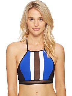 JETS by Jessika Allen Electrify High Neck Bikini Top Black/Oceanic - Zappos.com Free Shipping BOTH Ways