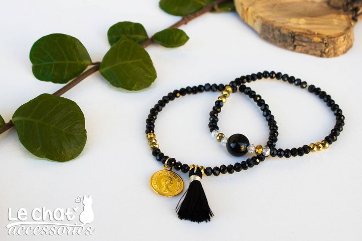 Excited to share the latest addition to my #etsy shop:  Elastic bracelets with black crystal beads and gold metallic motifs  Shop here :  http://etsy.me/2AFvPsl  #jewelry #bracelet #black #crystal #blackbracelet #blackandgold #tasselbracelet #coinbracelet #beadedbracelet