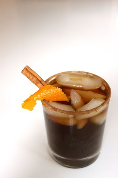 Coffee Margarita: 1 oz coffee patron, 4 oz coffee, citrus simple syrup to taste. Rim with cocoa powder, cinnamon, and sugar.