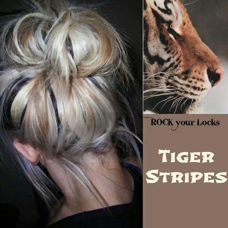 tiger stripes inspired hair