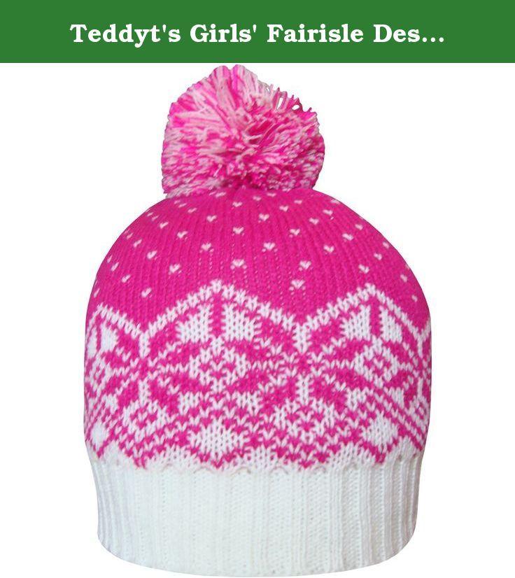 Teddyt's Girls' Fairisle Design Thermal Knit Deluxe Fleece Lined ...