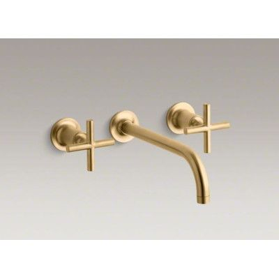 Kohler Purist Wall Mounted Bathroom Faucet With Double Cross Handles    K T14414 3