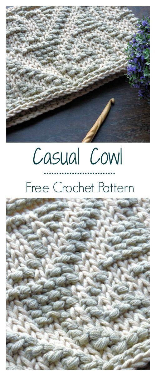 Casual Cowl Free Tunisian Crochet Pattern | Crochet and Knitting ...