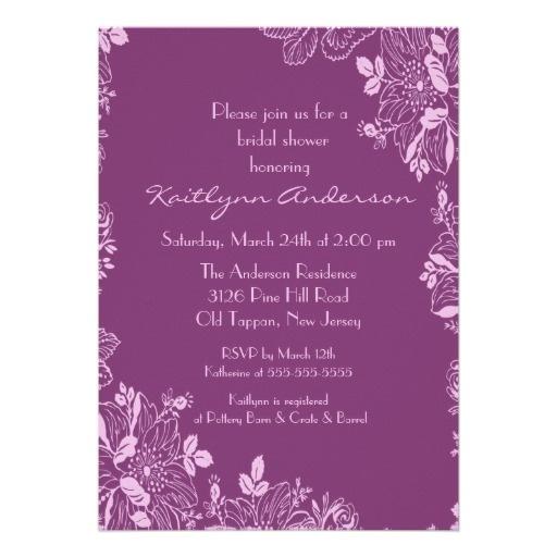 47 best Purple Wedding Invitations images on Pinterest Purple