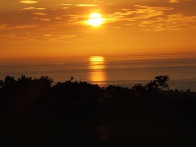 Seriously great sunsets over the Ceredigion coastline from this Touring and Camping Park in Wales near Talywerydd
