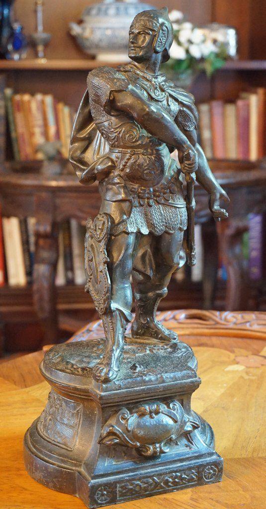 Roman Soldier Statue Statue Roman Soldiers Vintage