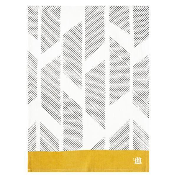 Diagonal Stripes Tea Towel www.koop.co.nz
